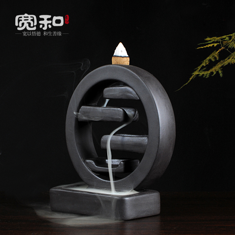 Rökelse brännare yixing rök aromaterapi ugn grov keramik rökelse - Heminredning