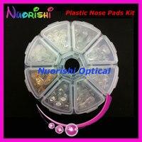 Pvc en plastique lunettes de nez Pads Kit contient 8 différents Types de lunettes lunettes accessoires ensemble HBN08 livraison gratuite
