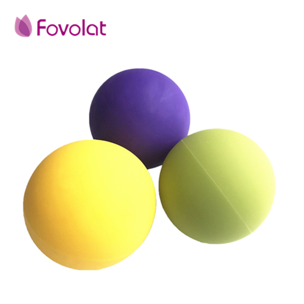 Massage Ball Set Firm Balls Self Therapy Target Work Myofascial Trigger Point Release Muscle Knots Silicone Yoga Massage Ball