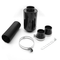 Universal Racing Air Filter Box Carbon Fiber Cold Feed Induction Kit Air Intake Kit Without Fan AF CA01