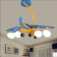 Новый возобновляемый LED Потолочные светильники детская комната самолет лампа LED мультфильм творческий спальня лампа Мальчик номер лампы