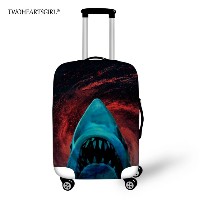 TWOHEARTSGIRL Elastic Luggage Protective Dust Cover Cool 3d Printing Animal  Shark Suitcase Cover Stretch 18-28inch Luggage Cover 9537ff4ae26f7
