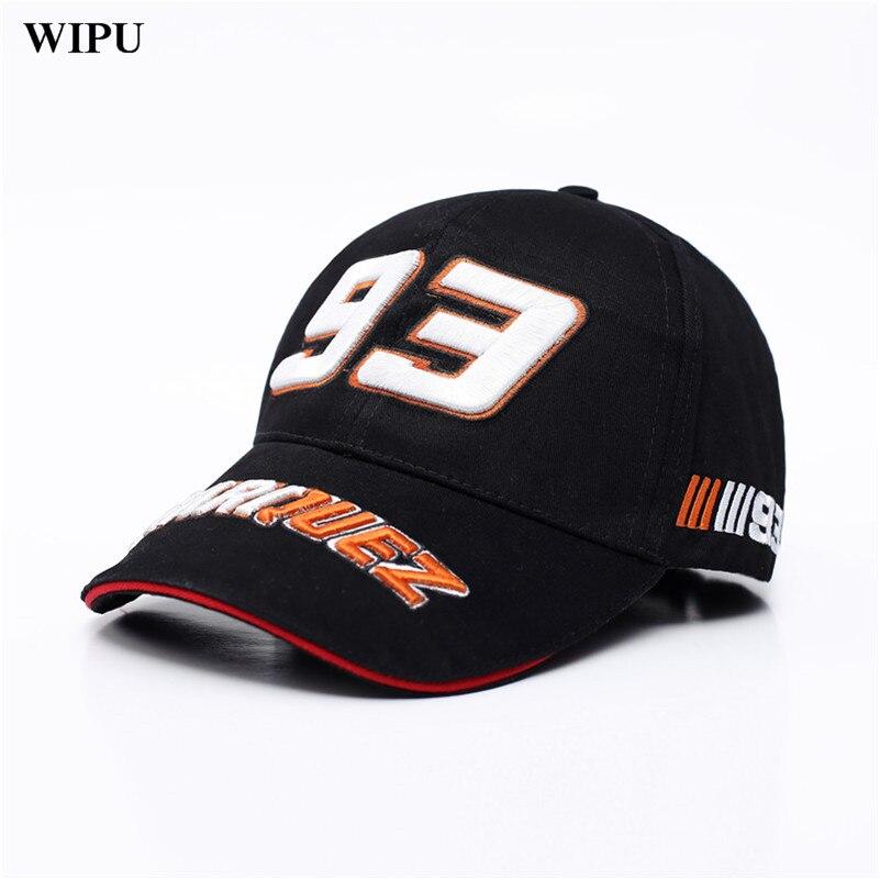 WIPU Racing Cap Saison 93 pilote Lorenzo signature moto chapeau fourmis Casquette de baseball De Chapeau Hommes Femmes