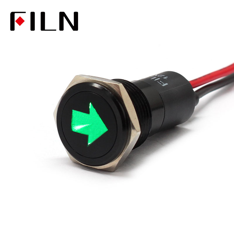 16mm Waterproof Lamp FILN 12V LED Car Boat Double Turn Signal Markin LED Warning Dashboard Signal Lights Instrument Pilot Light