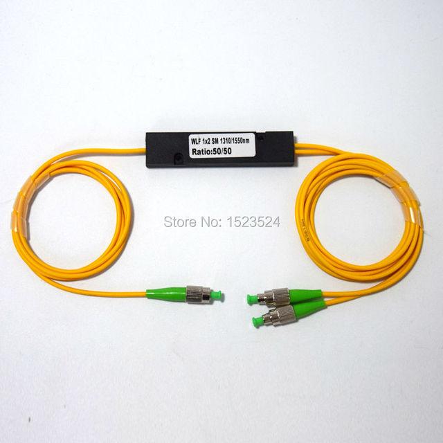 Envío Libre 1310/1550nm EPON Doble Ventana 50/50 Relación de Acoplamiento FC/APC Caja ABS Tipo 1x2 FBT Acoplador FBT Divisor