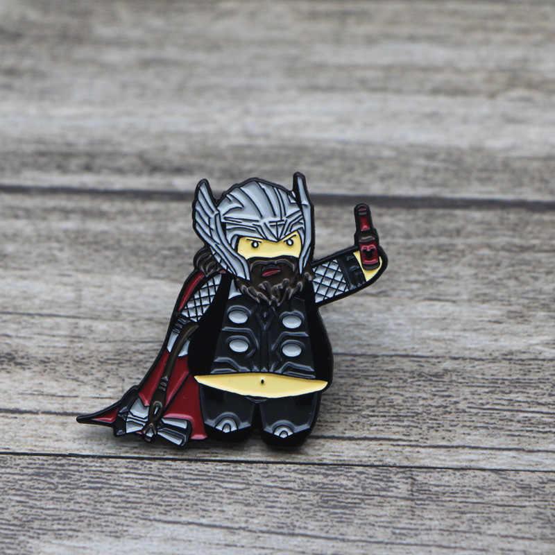 L1410 Il Film Thor Spille In Metallo e Spilli Dello Smalto Spille per Zaino/Sacchetto Distintivo Del Collare Spilla Gioielli Regali