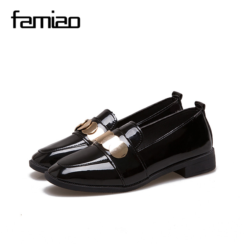 FAMIAO women pumps high heel 2018 party shoes metal spring causal Leather Dress Shoes fashion Wedding shoes zapatos mujer