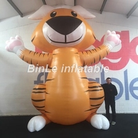High quality cute airblown giant inflatable tiger cartoon replica animal toys for activity decoration