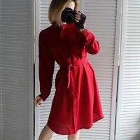 Платье в насыщенном красном цвете