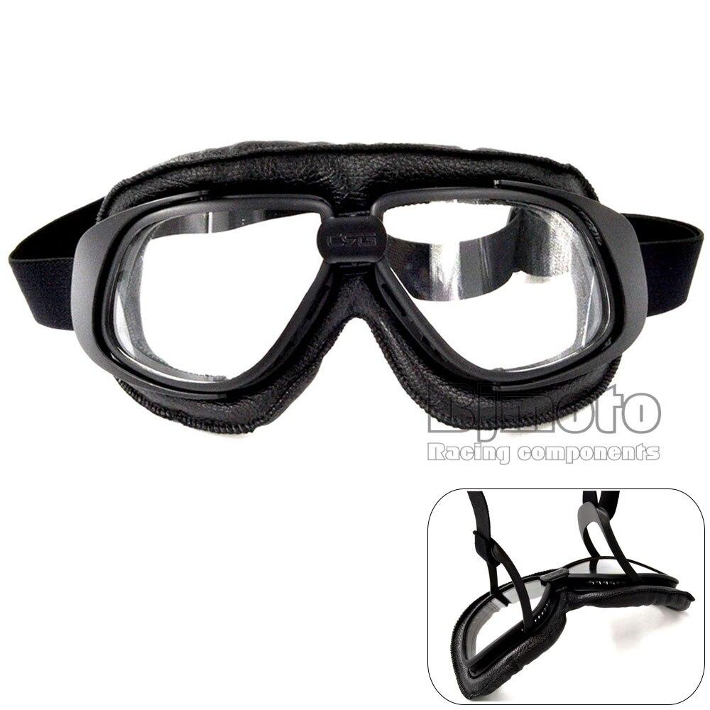 Kacamata Sepeda Motor Scooter Aviator Bjmoto Helm Anti Cantik Debu Kotoran Kuda Vintage Percontohan Biker Eyewear