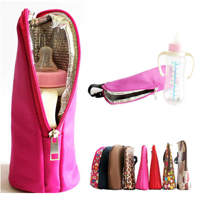 7 Colors Bottle Insulation Storage Bag Children Water Warmers Stroller Hanging Bags Travelling