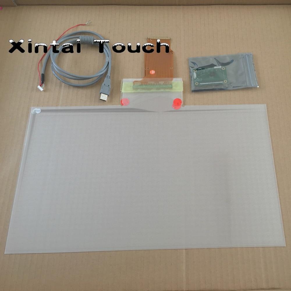 23 pouce Capacitif USB Multi Tactile Fleuret par atelier de vitrail au, 10 points tactile film Côté Queue