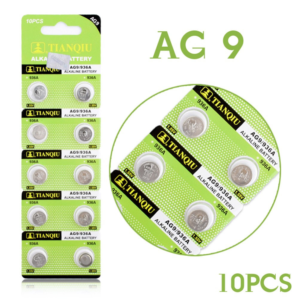 YCDC Factory Price 10 Pieces 1.55V AG9 LR936 394 SR936SW 194 V394 Button Coin Cell Alkaline Battery 52% off 1 55v ag9 lr936 cell button batteries 10 piece pack