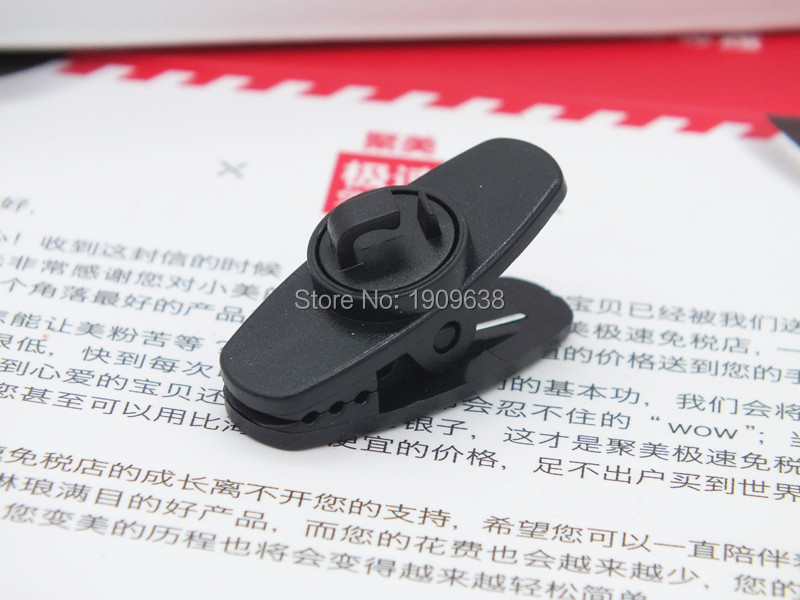 4pcs New Black Clamps for MP3/4 and other headphones headset clamp clip for headphone cable clip earphone accessories