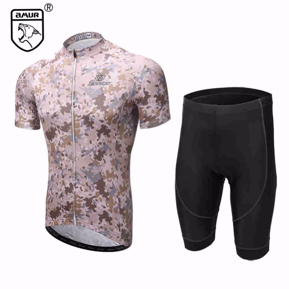 Amur Leopard Camouflage Cycling Bike Short Sleeve Clothing Set Bicycle Men Jersey Shorts полотенцесушитель milardo amur amusm10m49