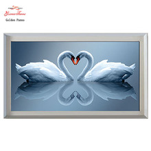 Needlework,DIY DMC Cross stitch,Sets For Embroidery kits,White swan heart to 3D Counted Cross-Stitching,Wall Home Decro