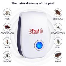 Ultrasonic Electronic Pest Repeller Mosquito Mouse Rat Multi-function Rodent Insect Repellent Mini Insect Killer Rode AU EU Plug(China)
