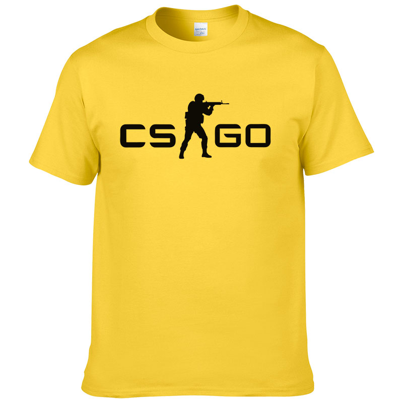CS GO Gamers Men Women t shirt summer new csgo men t -shirt 100% cotton high quality top tees brand clothing hip hop street #127