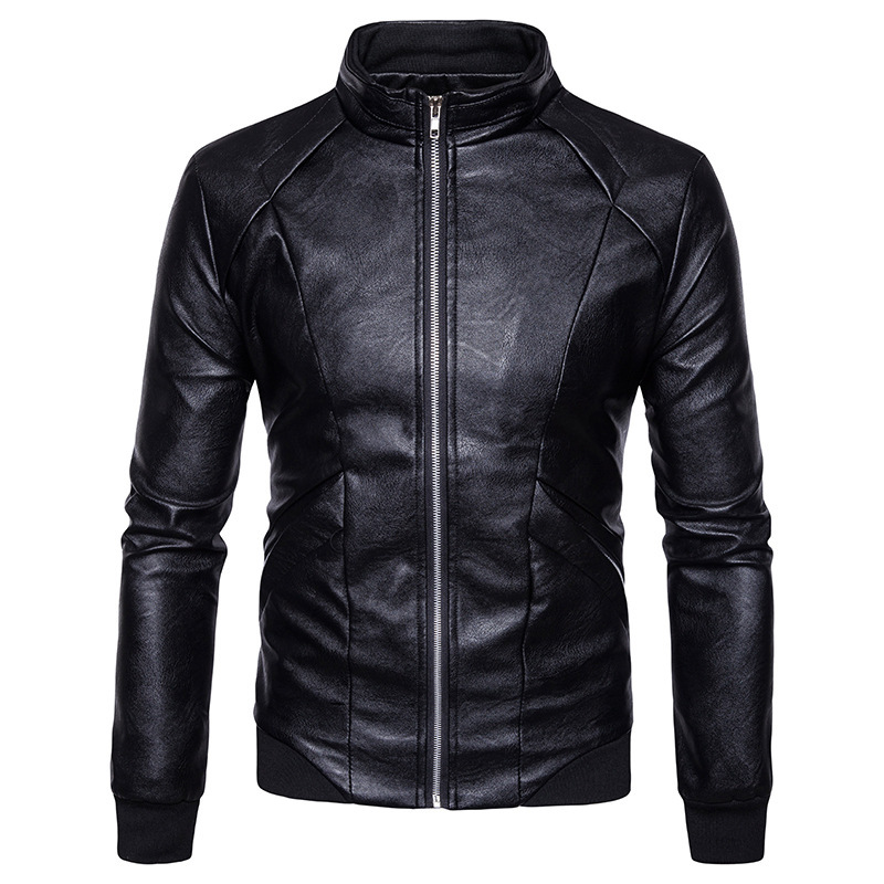 2018 Spring And Autumn New Korean Mens Casual Leather Jacket, Mens Fashion Leather Jacket