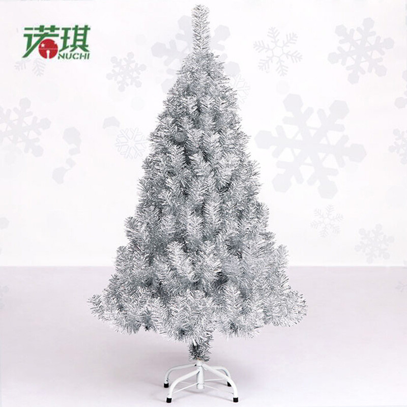 Luxurious Christmas Trees: Christmas Tree 1.2 M / 120cm Luxury Encryption Silver