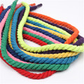 New 12mm 100% Cotton 3 Shares Twisted Cotton Cords DIY Craft Decoration Rope Cotton Cord for Bag Drawstring Belt 15 Colors