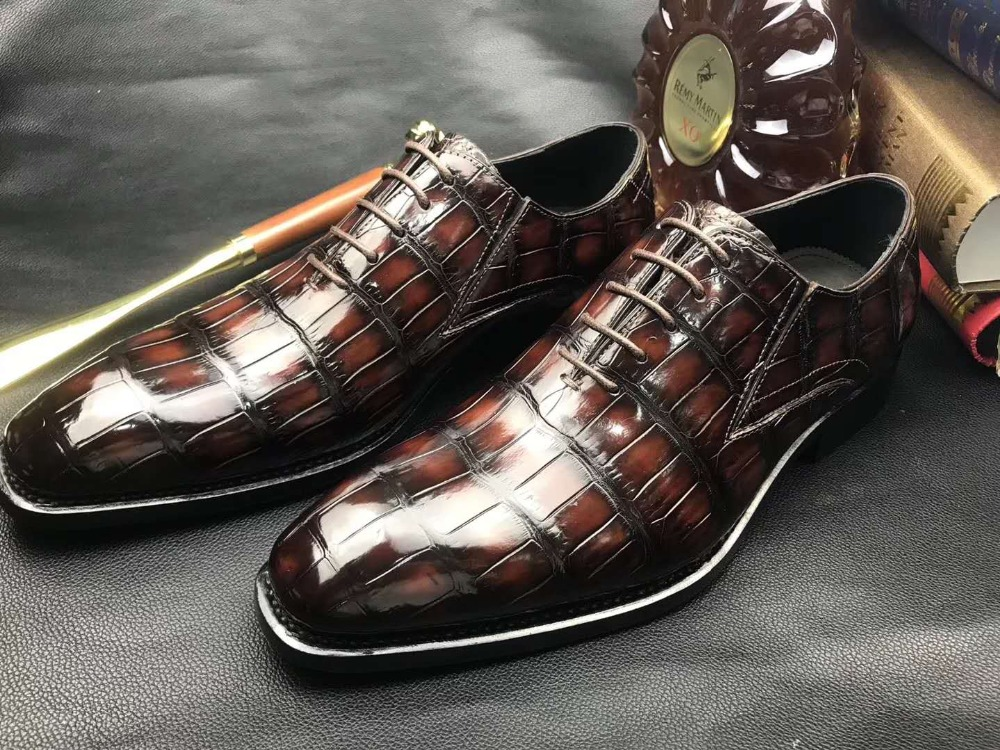 100% Genuine real crocodile belly skin shinny 2 colors leather men shoe durable solid crocodile skin men dress shoe official100% Genuine real crocodile belly skin shinny 2 colors leather men shoe durable solid crocodile skin men dress shoe official
