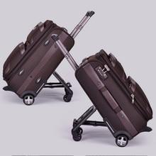 High quality 20 24 28 black brown vintage trolley luggage pull box male and female TSA