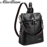 New Multifunction Backpacks Women Fashion Backpack Pu Bag High Quality Bagpack Bucket Bag Woman Travel Bags