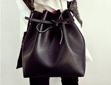 Free shipping Fashion 2015 candy color fashion all-match bucket bag one shoulder cross-body women's handbags