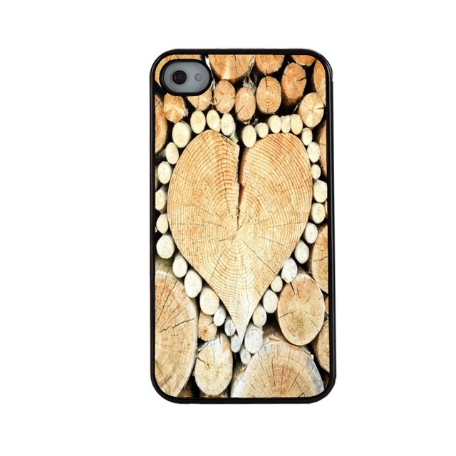 Wood Heart Symbol Case For Iphone 4 4s 5 5s 5c 6 6 Plus For Samsung