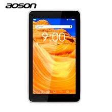 Лучший подарок ребенку 7 дюймов AOSON M751S-BS планшетный ПК Quad Core Android 8 ГБ 1024*600 Dual Cam WI-FI bluetooth fm Дети Pad Tablet игрушка