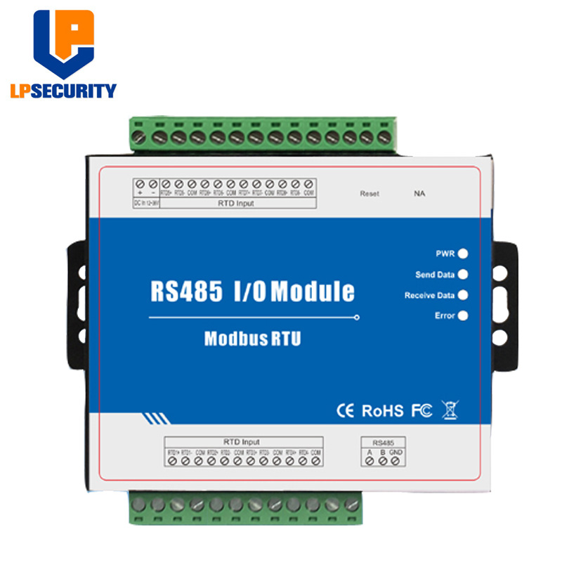 Modbus RTD Remote I/O Module Data Acquisition 8 RTD Inputs 12~36VDC With Anti-reverse Protection M340
