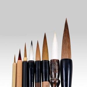 Image 4 - 8 Cái Trung Quốc Truyền Thống Bộ Cọ Vẽ Phong Cảnh Vẽ Bút Viết Thư Pháp Bút Lông