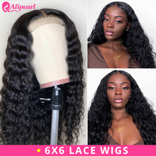 6x6 Deep Wave Lace Closure Wig Human Hair Wigs For Black Women Pre Plu