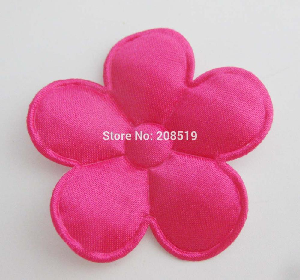 PANVGG 47 мм Цветочные аппликации 12 видов цветов DIY Скрапбукинг Цветочные нашивки 120 шт. головные уборы цветочный орнамент войлочный - Цвет: rose 47mm