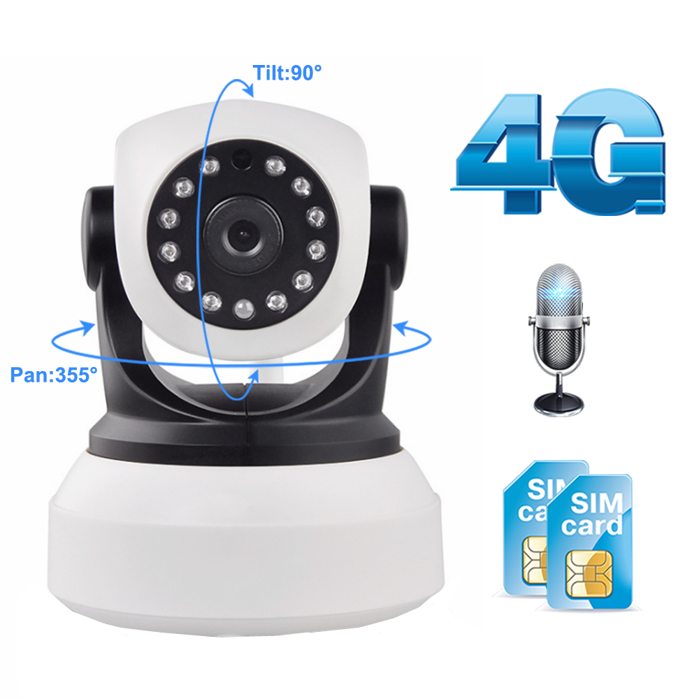 Wifi Camera 4G 3G Sim Card 1080P 720P HD Network Video Wireless IP Camera GSM Security Baby Surveillance Camera APP Control image