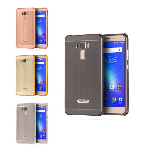 quality design 235b4 05489 US $8.29 |Zenfone 3 Laser ZC551KL Case Metal Frame with Brushed Back Cover  Hard Case for ASUS Zenfone 3 Laser ZC551KL Phone Shell Cover-in Fitted ...