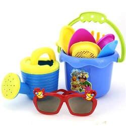 Случайный цвет 9 шт. дети пляжные игрушки замок ведро Лопата грабли воды Инструменты Набор для детей игрушечные лошадки хороший подарок д