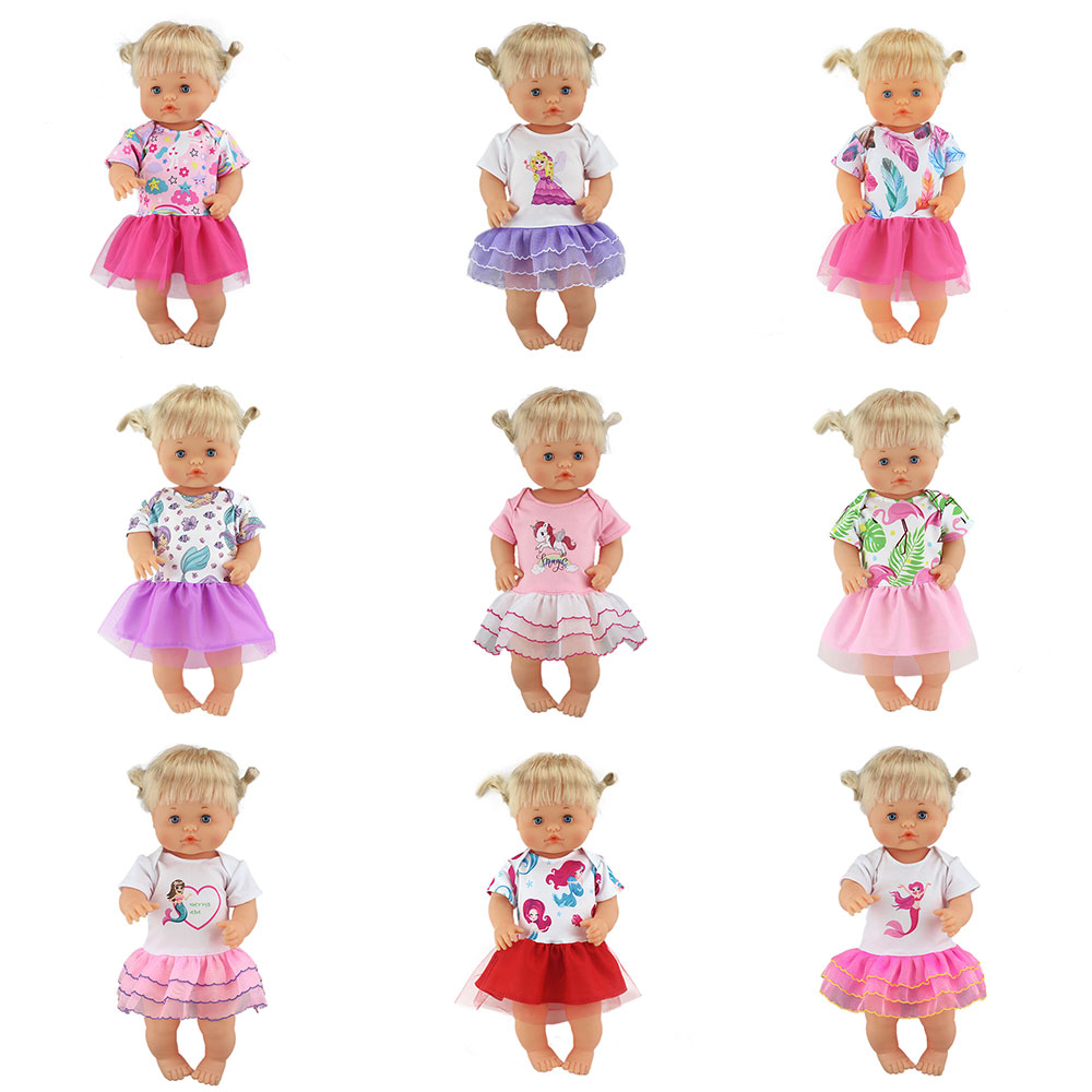 New Fashion Dress Fit For 42 Cm Nenuco Doll 17 Inches Dolls Clothes And Accessories