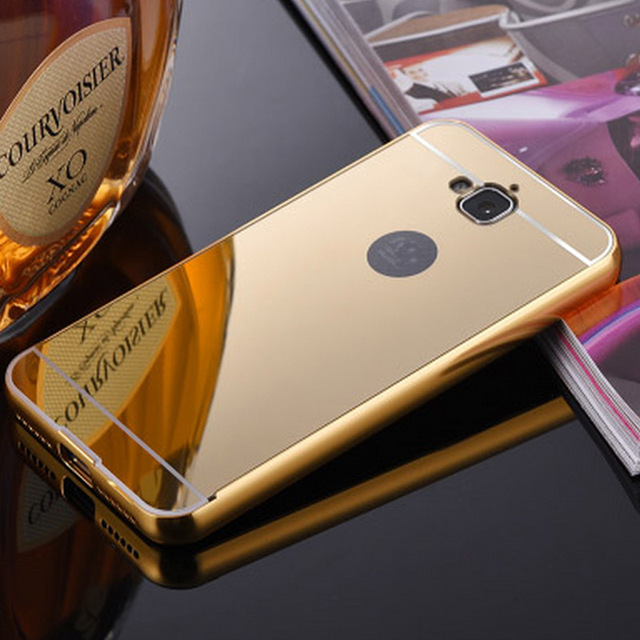 brand new 98c20 c9338 US $2.75 21% OFF|Mirror Case For Huawei Y6 Pro Mirror Back Cover & Aluminum  Metal Frame Set Hot Phone Case For huawei Honor 4C Pro-in Phone Bumper ...