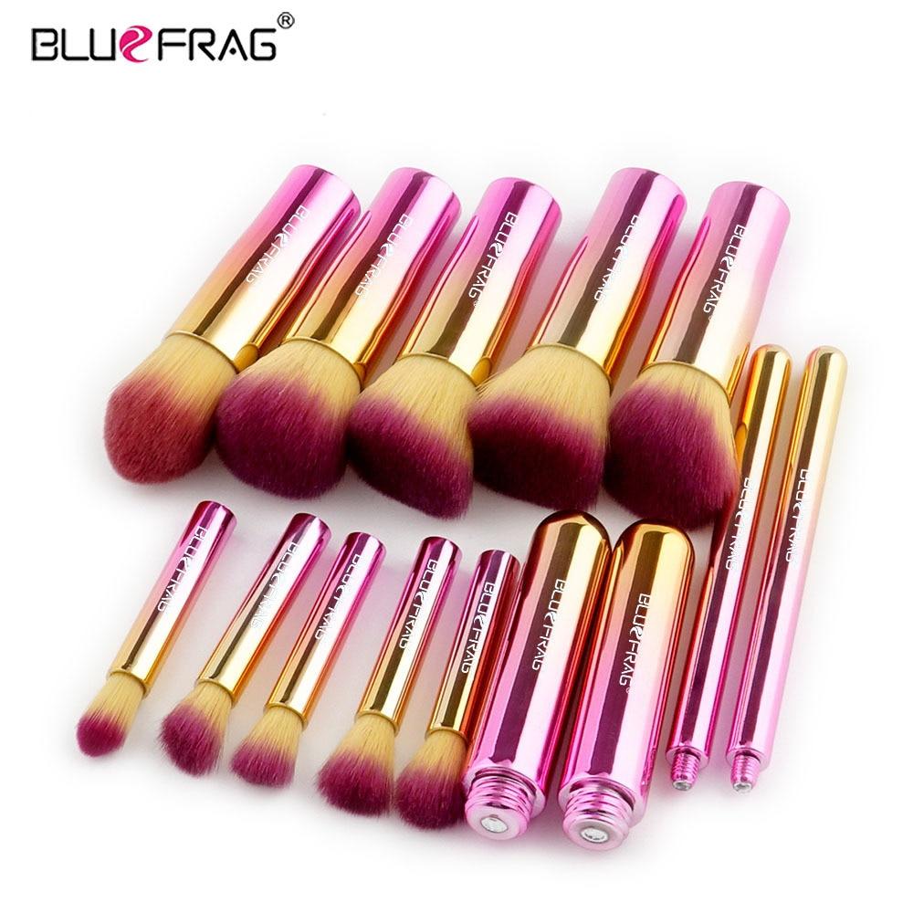 BLUEFRAG Brand Makeup Brushes For makeup brush set Full Professional Powder Blending Blush Lip Eyebrow Beauty Cosmetic Tools kit 5pcs makeup brushes set eyeshadow eyebrow lip blush cosmetic powder brush tools w259m 25