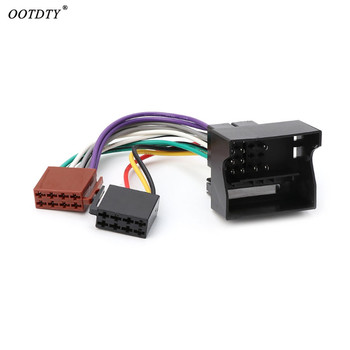 OOTDTY Car Stereo Radio ISO Lead Cable Wiring Connector Adapter For Peugeot 207 307 407 image