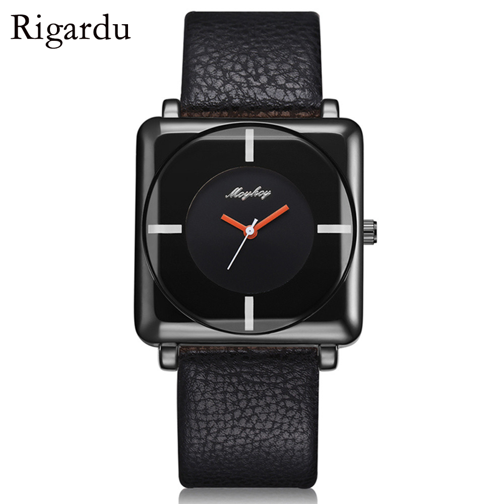 Fashion Male Wrist Watch Faux Leather Alloy Dial Mens Gift Creative Design Quartz Analog Watch Business Man Wrist Watches #30 ...