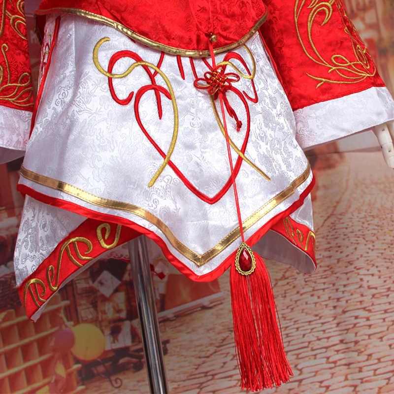 Coshome LOL Ари, костюмы для косплея, красное платье для женщин, взрослых, топы, юбки, набор париков