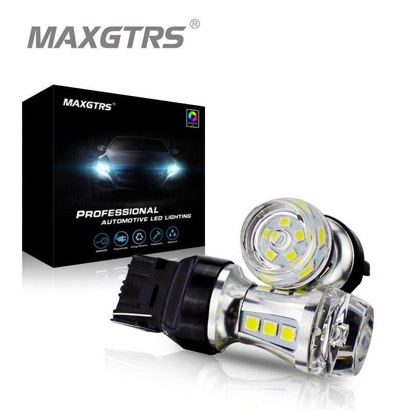 MAXGTRS 2х Т20 7440 w21w в светодиодные лампы чип 18SMD 3030 СИД автомобиля Резервное копирование Обратный сигнал поворота DRL свет лампы белый желтый красный