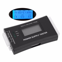 1Pc Free Shipping Computer PC Power Supply Tester Checker 20 24 Pin SATA HDD ATX BTX