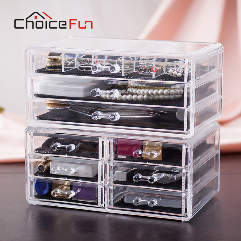 CHOICE FUN 9 Drawers 15 Grids Makeup Organizer Jewelry ...