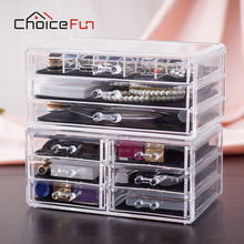 CHOICE FUN 9 Drawers 15 Grids Makeup Organizer Jewelry Accessories Storage Rings Earring Makeup Plastic Box SF-1005-57
