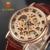 Ouyawei lujo de la marca reloj de los hombres de oro esqueleto casual relojes mecánicos mano de viento relojes de pulsera reloj de hombre reloj hombre
