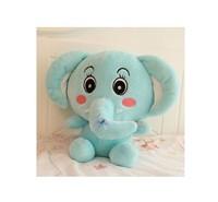 stuffed animal blue elephant plush toy about 40cm cute cartoon elephant soft doll t512
